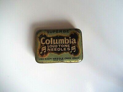 Antique Columbia Loud Tone Gramophone Needles Tin w/ Some Needles
