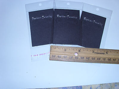 LOT OF 100 EARRING DISPLAY CARDS WITH SELF ADHESIVE BAGS **US Seller**