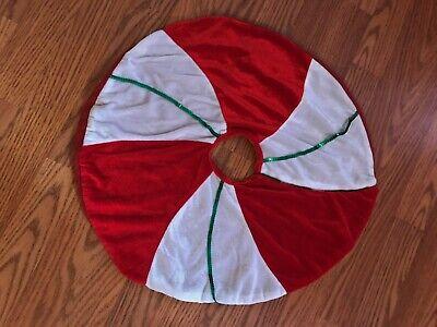 "Vintage Small Christmas Tree Skirt 20"" Round"