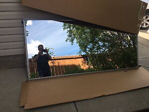 One panel of a sliding glass door