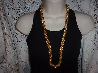 Vintage Paolo Gucci Heavy Gold Tone Chain Necklace