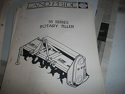 Land Pride Owners Parts Manual 15 Series Rotary Tiller