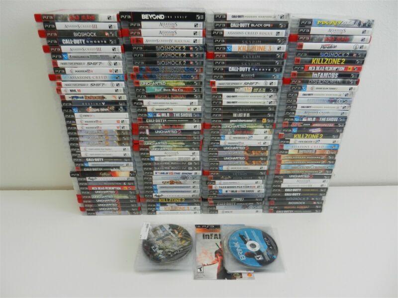 Lot of 176 PS3 Playstation 3 Games - Elder Scrolls V: Skyrim, Call of Duty