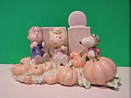 LENOX Peanuts THE GREAT PUMPKIN PATCH Snoopy- Linus- Sally- NEW in BOX with COA