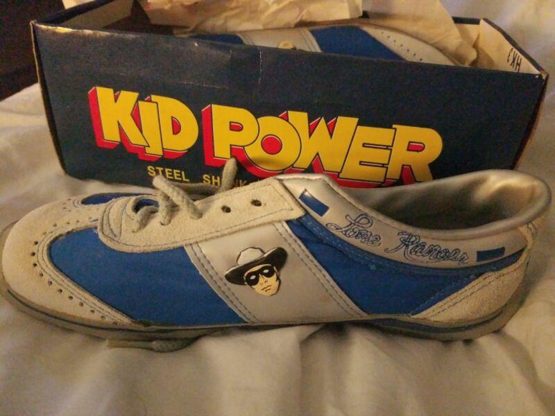 Vtg Kid Power THE LONE RANGER Sneaker Skateboard Shoe Youth sz 2.5 1/2 Retro 80s