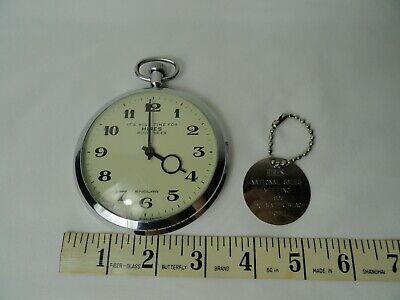 Vintage HIRES ROOT BEER Wind Up ENDURA Pocket Watch 1965 Key Chain Advertise