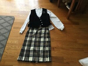 Scottish kilt with blouse and vest