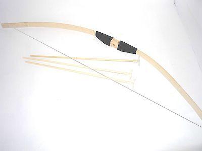 Pfeil und Bogen aus Bambus mit 3 Pfeilen Pfeilerbogen Spielzeug Pfeil u. Bogen (Spielzeug Pfeil Und Bogen)