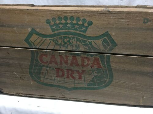 Vintage Canada Dry Ginger Ale Soda Wood Crate/Box D-6-58