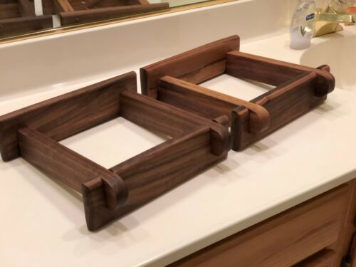 Custom Made Mahogany or Walnut Speaker Stands for Advent Large