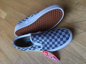 7568ae4173f Vans Slip-on Platform- Checkerboard Denim