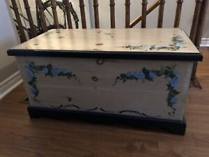 Hand painted Pine chest