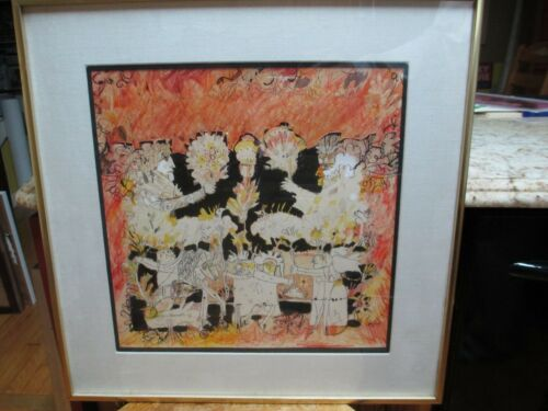 Norman Laliberté Born 1925 Mixed Media w/ Cut Out Painting