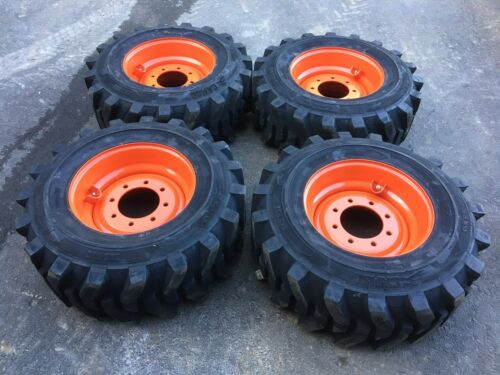 4 NEW Camso 12-16.5 Skid Steer Tires & Wheels/Rims for Bobcat - 12X16.5 -12 ply