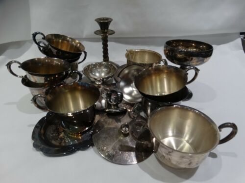 Mixed Lot Vintage Silver Plate 19 Items #S103