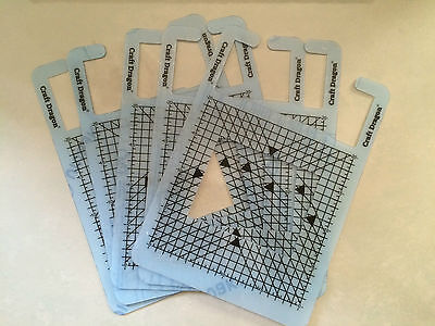 Craft Dragon measuring mats printing positioning guide stamping NEW x5 multipack