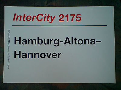 Zuglaufschild InterCity 2175   Hamburg-Altona - Hannover  (29)
