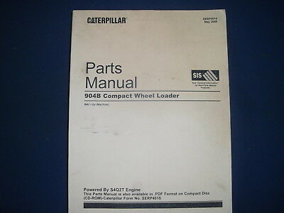 Cat Caterpillar 904b Compact Wheel Loader Parts Manual Book Sn B4l1-up