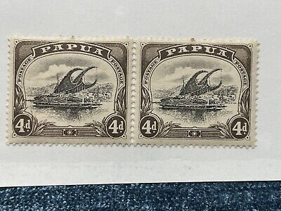 Papua Stamps 1907 Mint OG Lakatoi 4d Malformed 4 INVT WATERMARK SC 31 New Guinea