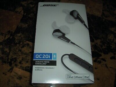 Bose QC20i In-Ear Only Headphones Acoustic Noise Cancelling- Black For Apple