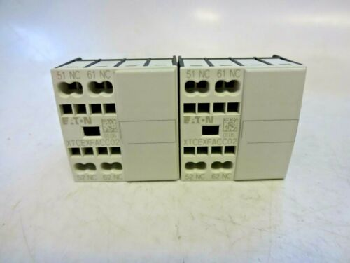(2) XTCEXFACC02 XTCEXFACCO2 Eaton Corporation Contactor Accessory