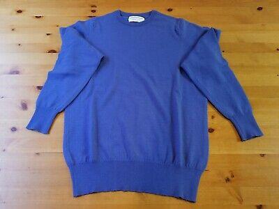 Ballantyne Made in Scotland Blue Merino 2000 wool Sweater Sz S