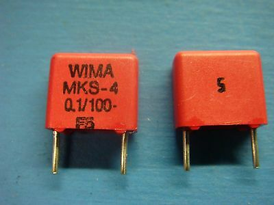 50 Wima Mks4 0.11005 0.1uf 100v 5 7.5mm Polyester Film Capacitor
