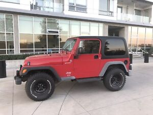 2006 Red Jeep TJ Sport
