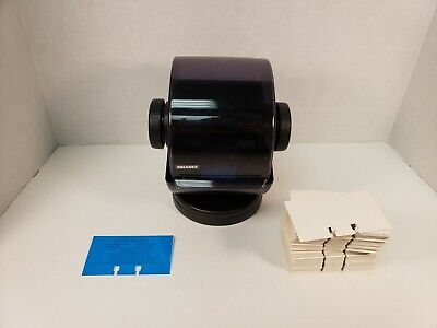 Rolodex Nsw-24c Black Rotary Business Card File Office With Letter Tabs Cards