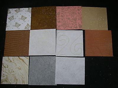 """Job Lot CREATIVE Handmade Paper Pack 11 Sheets 12x 12"""" NEW Ass Colours TEXTURED"""