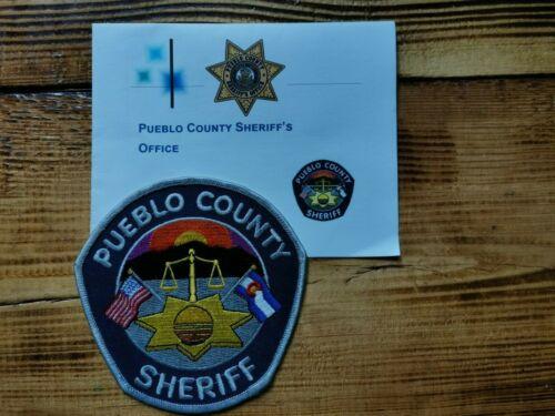 PATCH POLICE SHERIFF PUEBLO COUNTY COLORADO + Presentation Folder Booklet