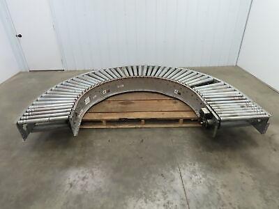 Automotion Vb1-455 180 Curve 24 Power Roller Bed Conveyor V-belt Drive