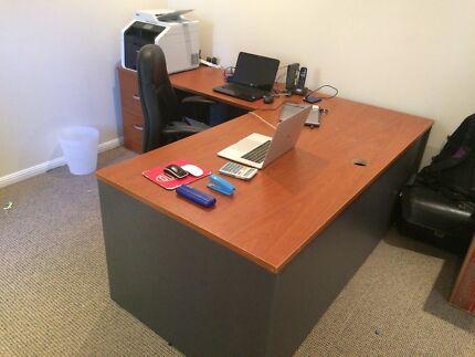 oak legs metal l danish desk with solid furniture unique office designer ebbe by