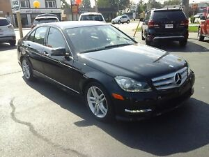 2013 MERCEDES BENZ C-CLASS BASE- POWER GLASS SUNROOF, LEATHER HE