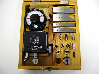 Suhl Gear Tester Checker Modul M2-10 Mikrokator 0001mm Tooth Eingriffsteilungs