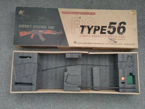 Rare Airsoft Real Sword Type56 Ak47 Full Metal AEG Rifle - BOX ONLY