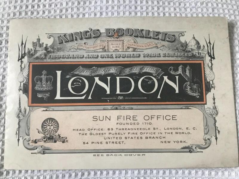 Antique King's Booklets 1904 London Souvenir Sun Fire Insurance Office Photos