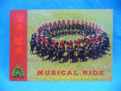 Musical Ride Royal Canadian Mounted Police Postcard Unposted