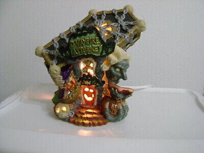 SPOOKY HOLLOW HALLOWEEN HAUNTED VAMPIRE ATTORNEY CERAMIC HOUSE LIGHT CORD