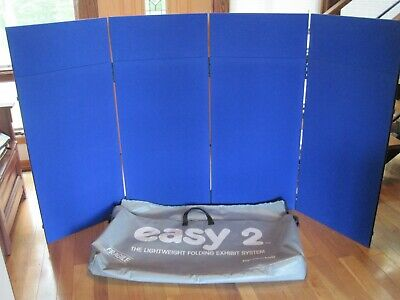 Nimlok Easy 2 Trade Show Display 88 Inches By 50 Inches Blue Orange Reversible