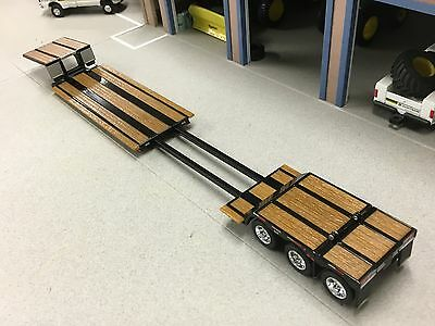 1/64 DCP BLACK FONTAINE RENEGADE TRI AXLE STRETCH LOWBOY TRAILER 4