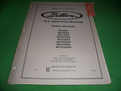 Drawer 16 Brillion 189 Models Rigid Pulvi-mulcher Repair Parts Catalog