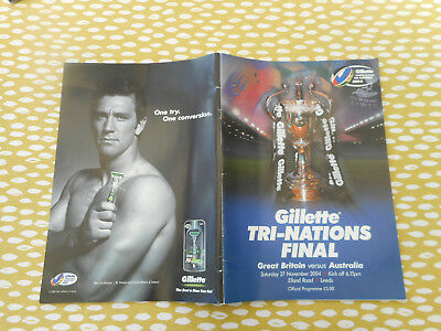 2004  GREAT BRITAIN  V  AUSTRALIA  RUGBY LEAGUE TRI-NATIONS FINAL