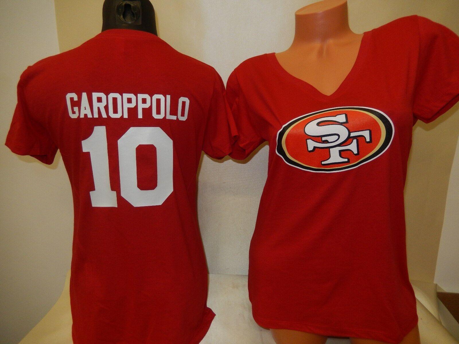 Купить NFL Team Apparel - 0110 Womens San Francisco 49ers JIMMY GAROPPOLO V-Neck Football Jersey SHIRT