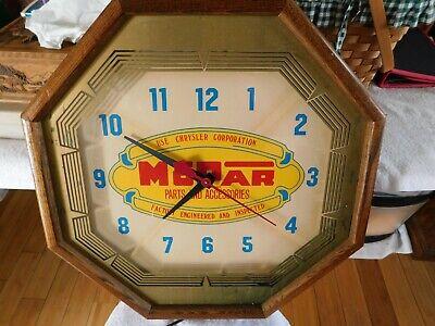 Vintage Original Mopar Chrysler Parts working wall clock