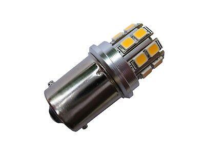 Gebraucht, Lampe Birne LED warm weiss BA15S 12V DC 21W Stoplicht Blinklicht Blinker gebraucht kaufen  Versand nach Germany