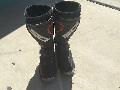 SIDI YOUTH STINGER BOOTS SIZE KIDS 1.5 BLACK DIRTBIKE MX OFFROAD MOTORCROSS