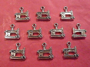 Tibetan-silver-sewing-machine-charms-10-per-pack