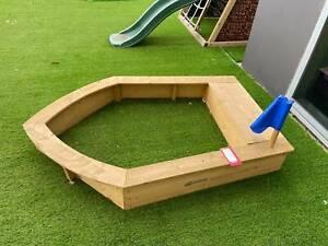 New Boat Sandpit Sandbox use for Photoshoot
