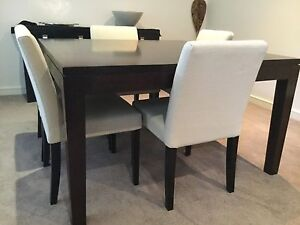 Modern square dining table and 6 chairs Mulgrave Monash Area Preview